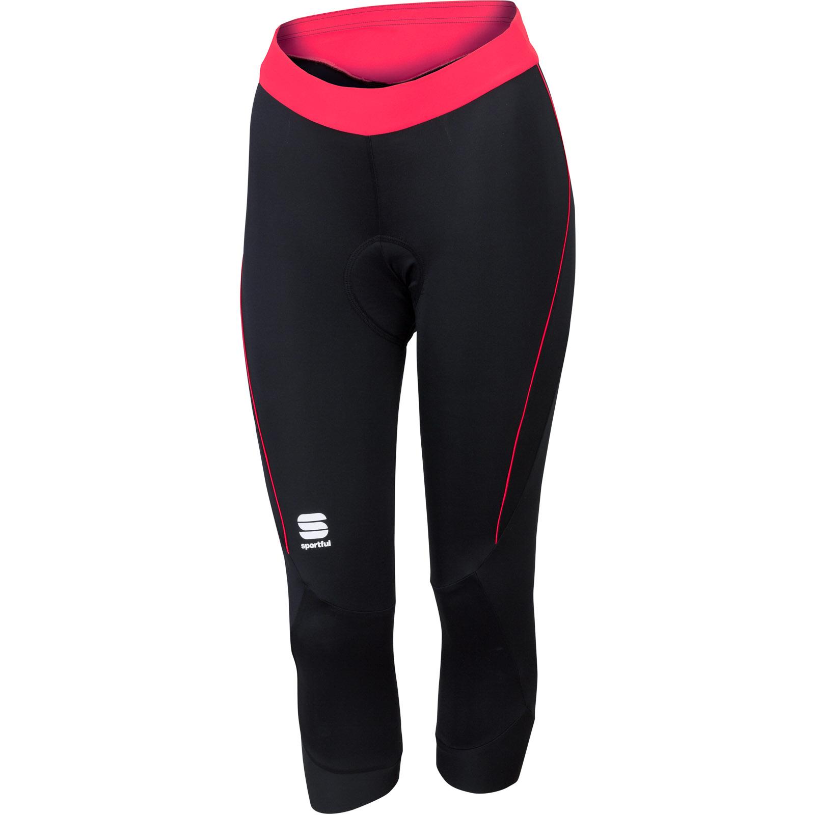 1385a9896ebdd Sportful Giro dámske 3/4 cyklo nohavice čierne/ružové