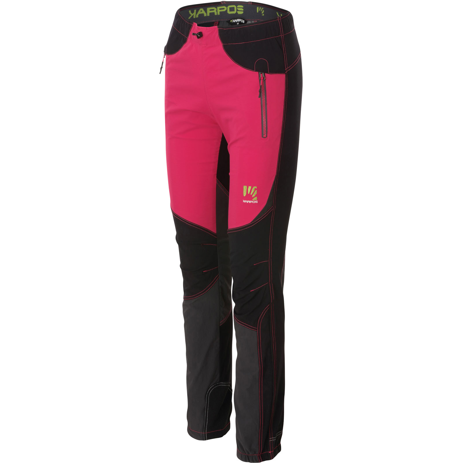 dbf8186dd50e Karpos ROCK Dámske nohavice ružové čierne tmavosivé
