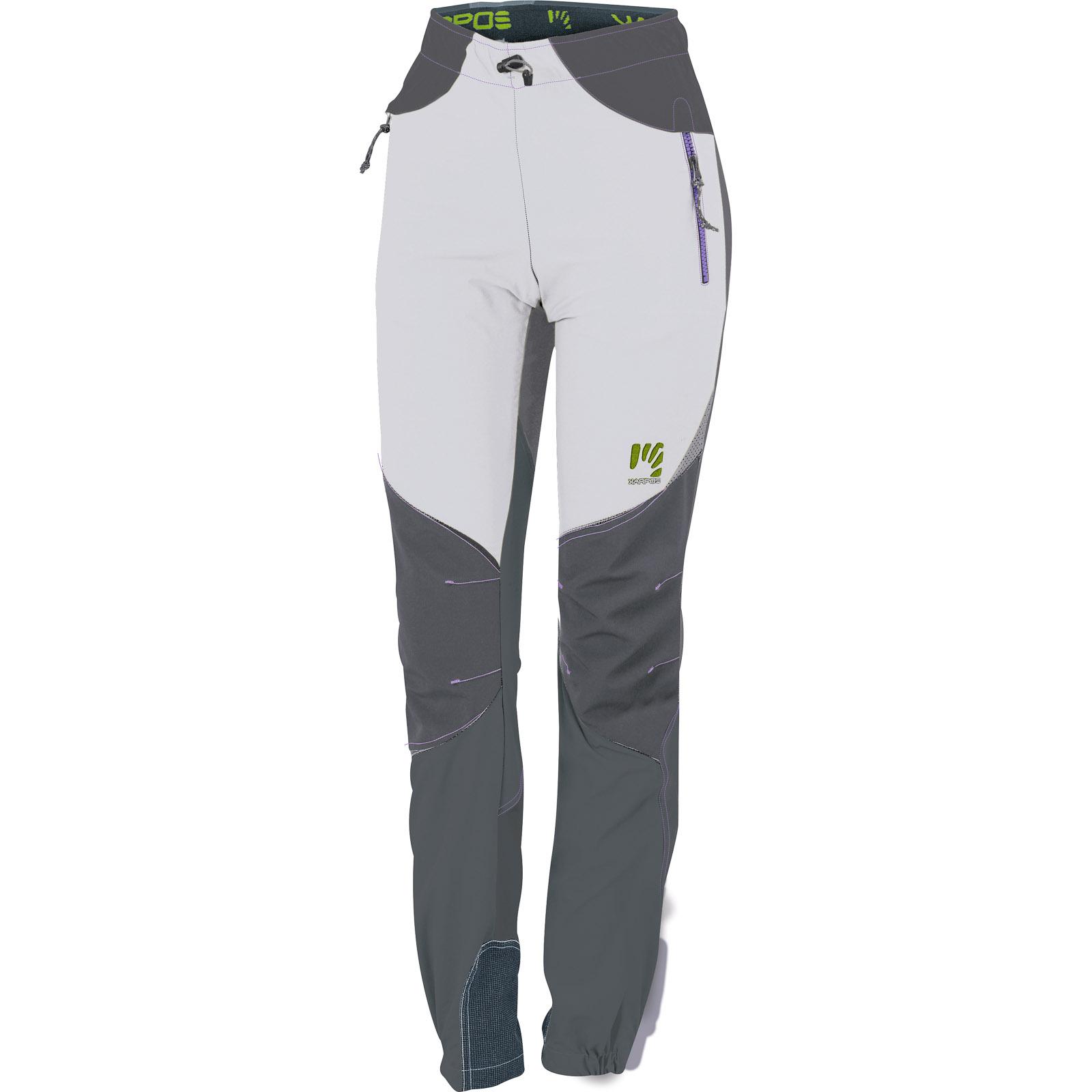 da9f265319a6 Dámske lezecké nohavice Rock strieborné sivé