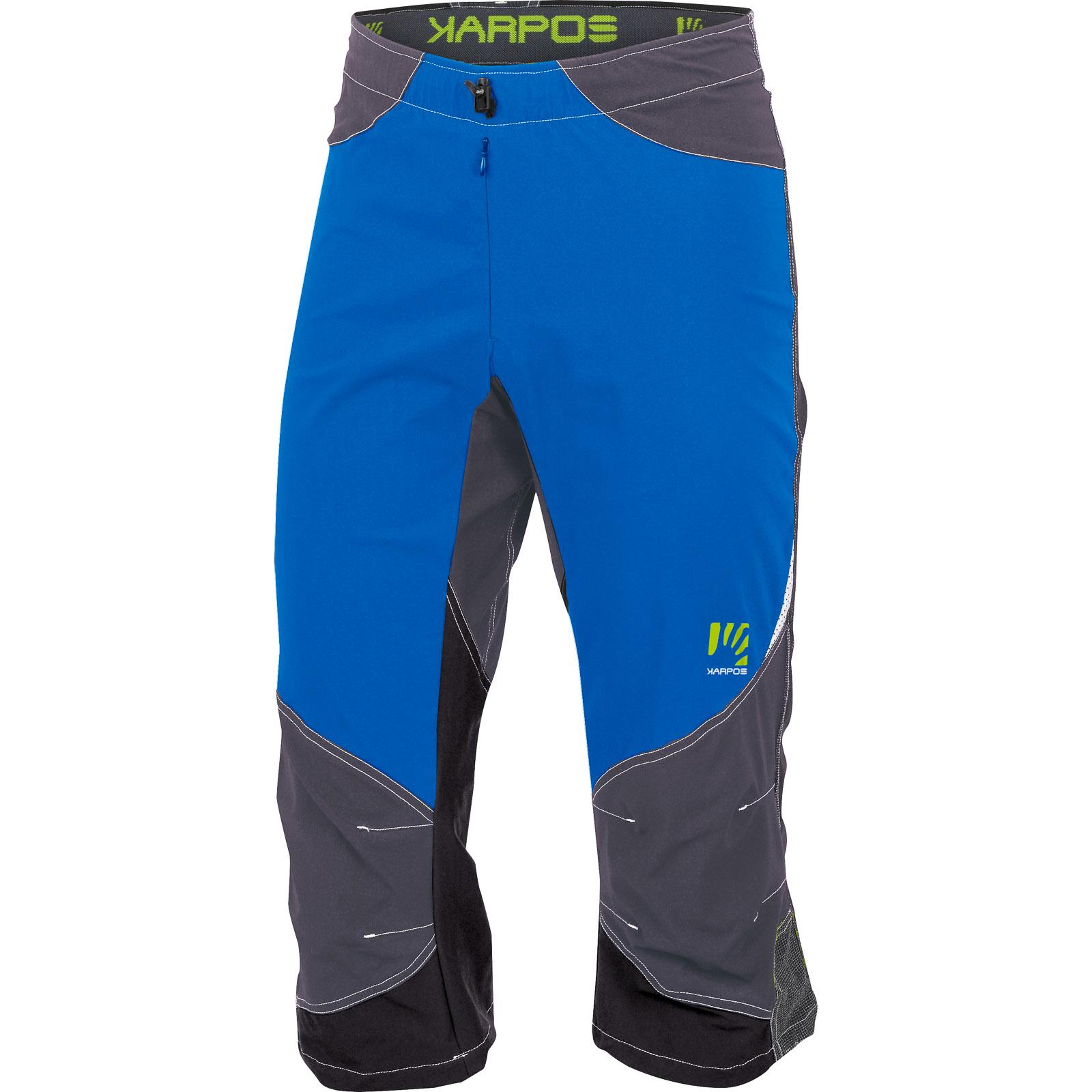 c2110e36a0aa 3 4 outdoorové nohavice Karpos Cliff modré sivé
