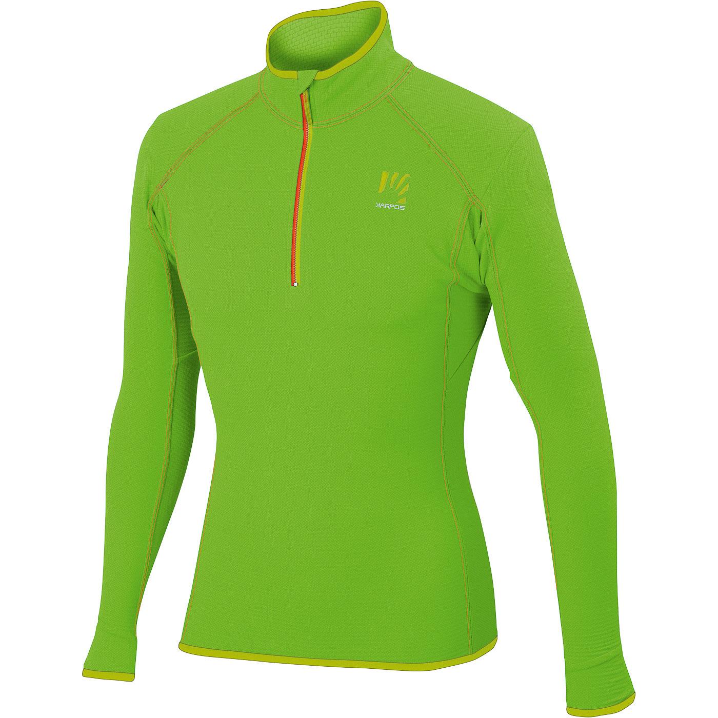 074cef57cc63 Pánska zelená outdoorová mikina Karpos