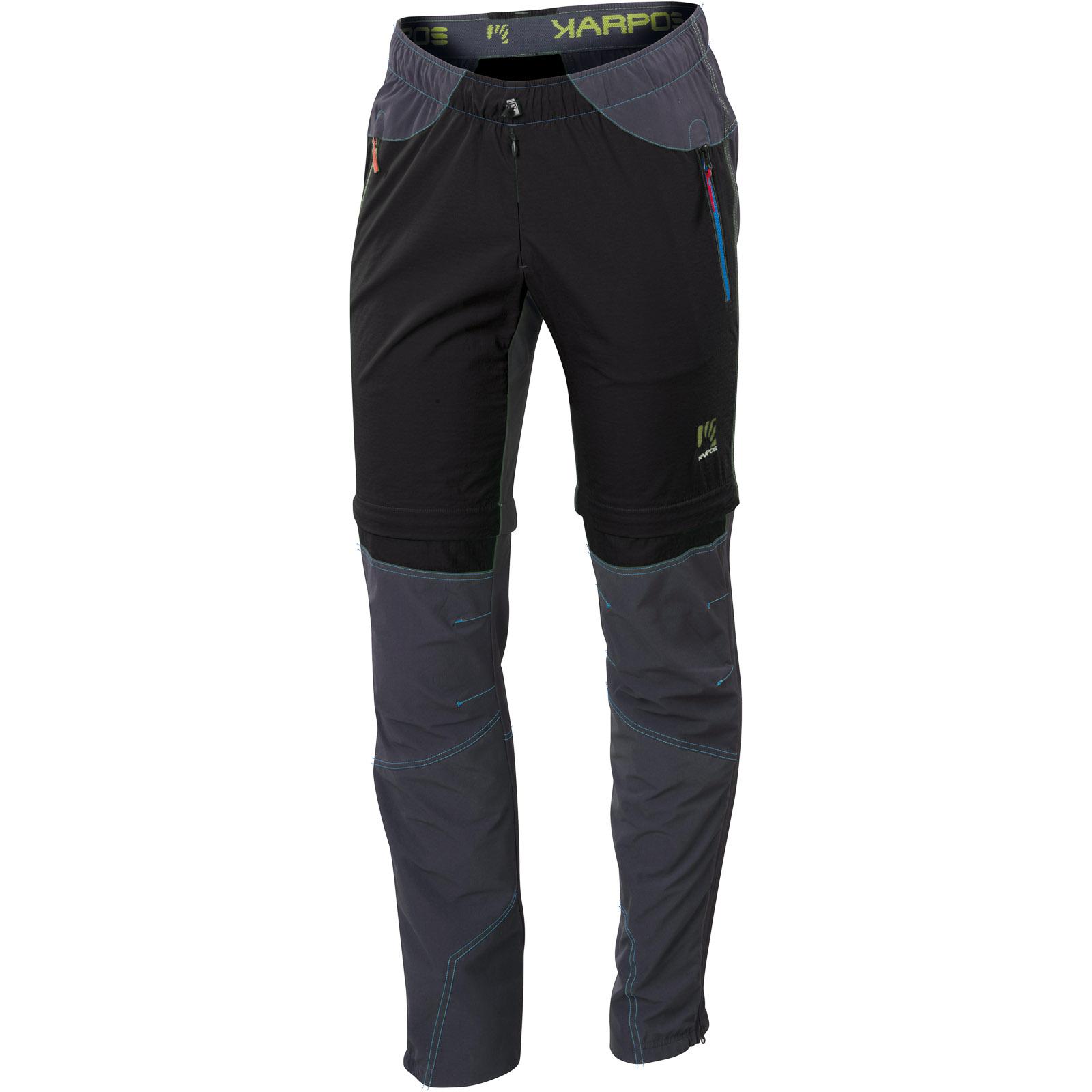 af7a2e5dd06e Karpos ROCK ZIP-OFF Odopínateľné Nohavice čierne sivé