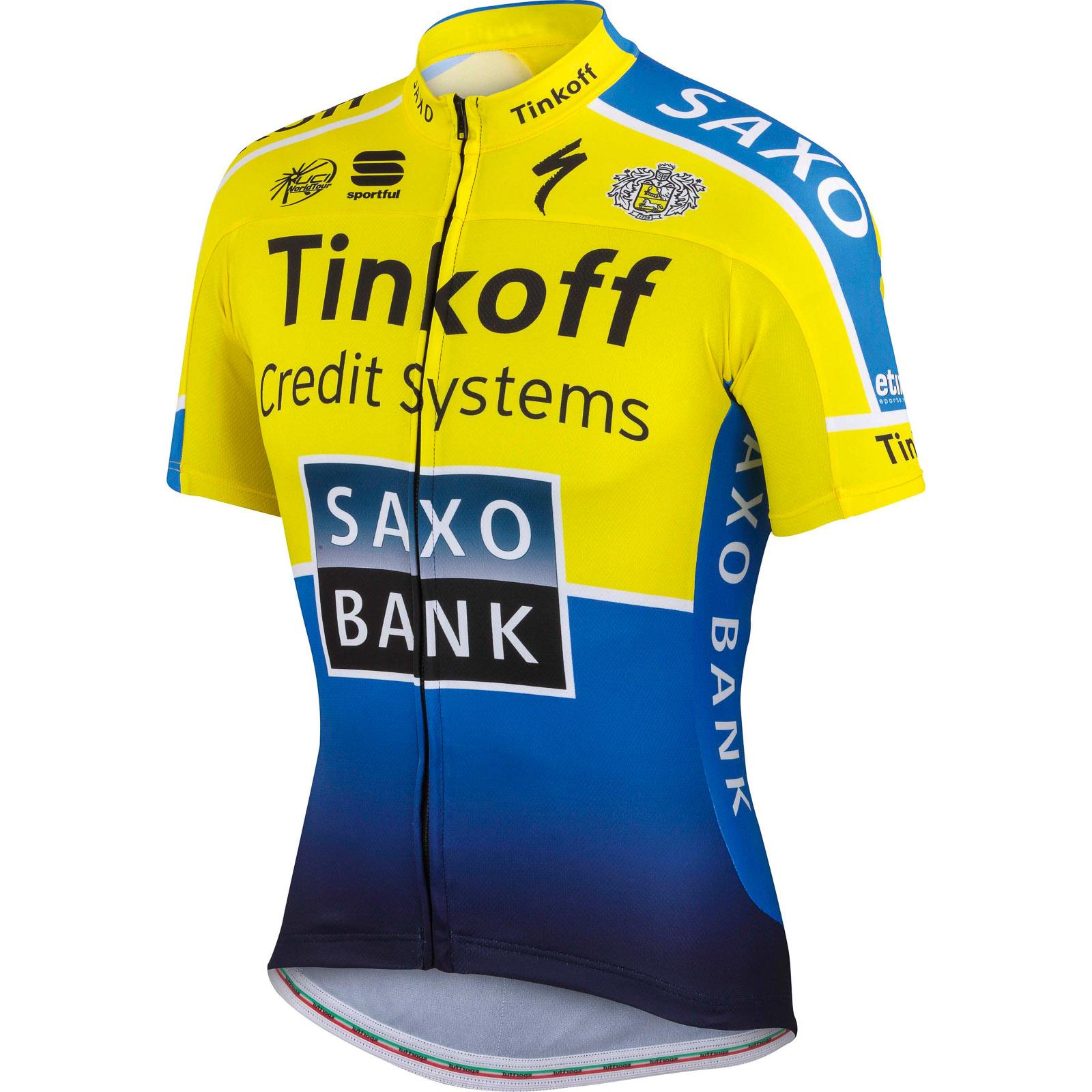 635c7a630f381 Sportful Tinkoff-Saxo Pro Team dres žltý-modrý