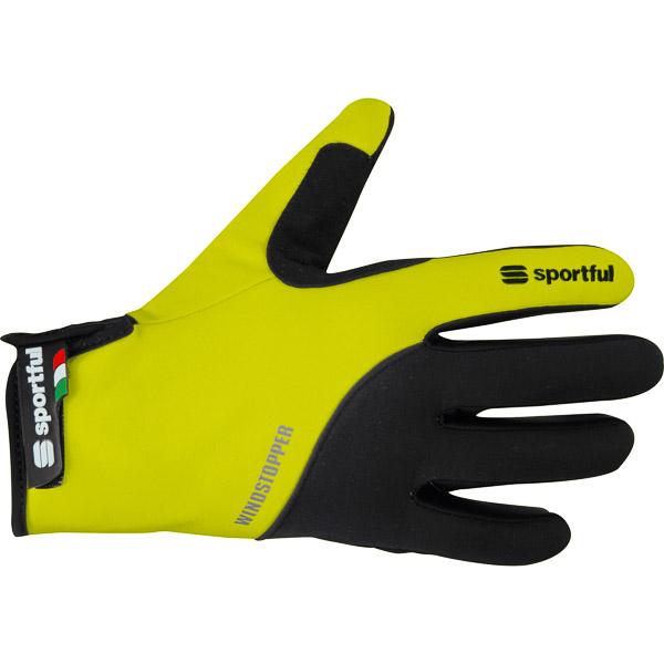 Sportful WindStopper Essential XC Rukavice žlté/čierne