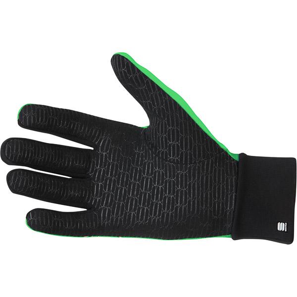 Sportful Lycra race Rukavice fluo zelené/čierne