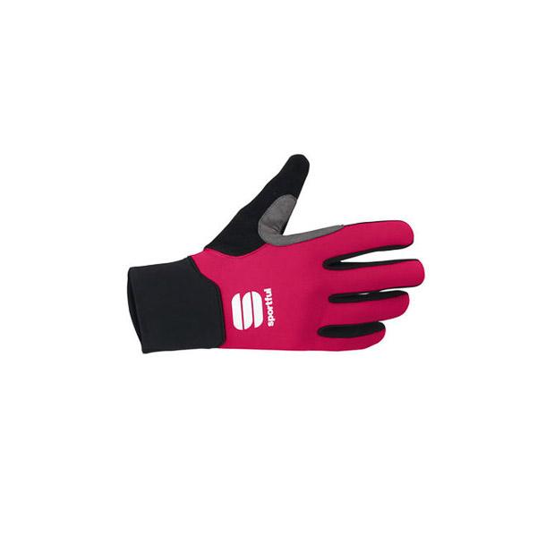 Sportful Kids Softshell rukavice na bežky ružové