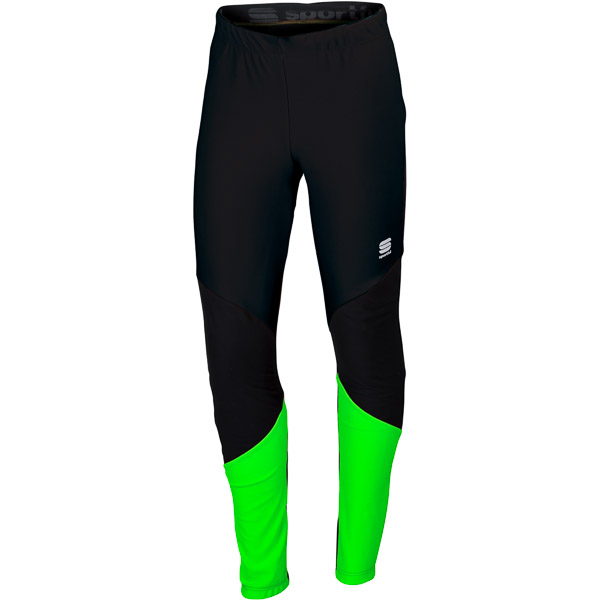 Sportful Apex Windstopper Race Elasťáky čierne/fluo zelené