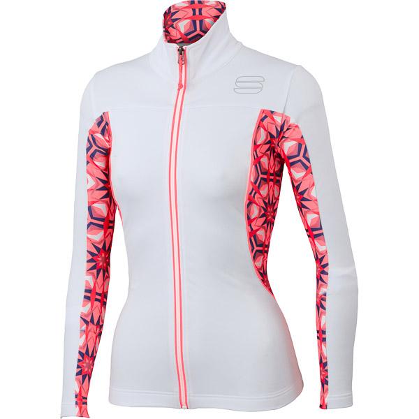 Sportful Rythmo mikina dámska biela/ružová/červená