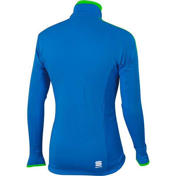 Sportful Squadra Windstopper Bunda modrá/fluo zelená