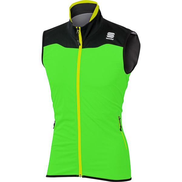 Sportful Apex Windstopper Race Vesta fluo zelená/čierna