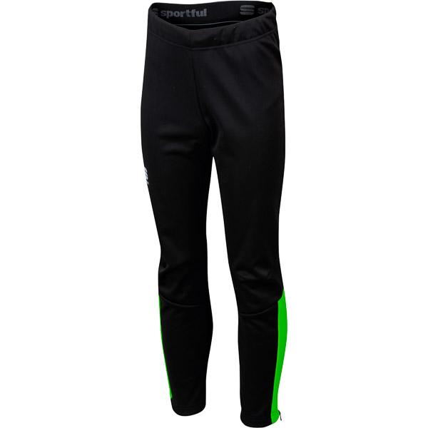 Sportful Team Nohavice detské fluo zelené/čierne