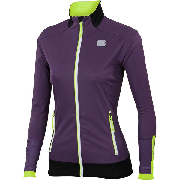 Sportful Apex WS bunda dámska fialová/fluo žltá