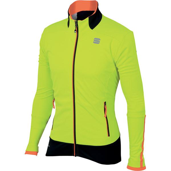 Sportful Apex Gore WindStopper bunda fluo žltá/červená