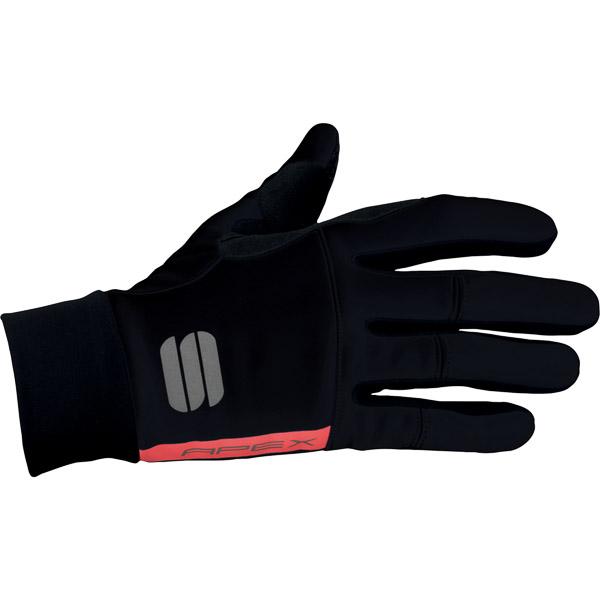 Sportful Apex rukavice tmavosivá/fluo červená