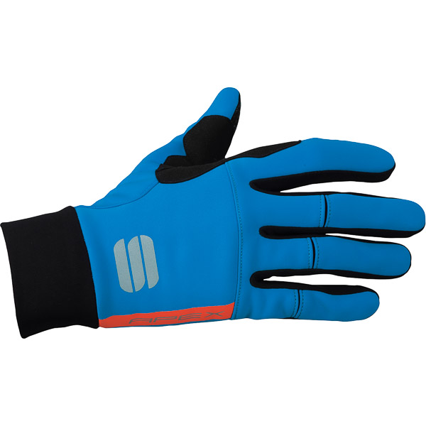 Sportful Apex rukavice modré/fluo červené
