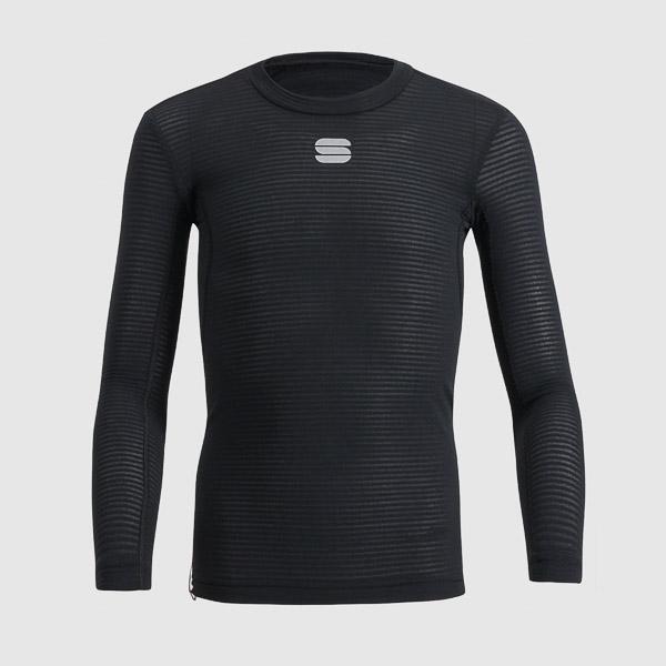 Sportful TD MID detské tričko s dlhým rukávom čierne