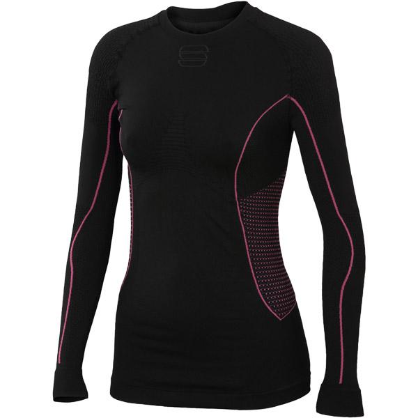 Sportful 2nd Skin Tričko dlhý rukáv dámske čierne