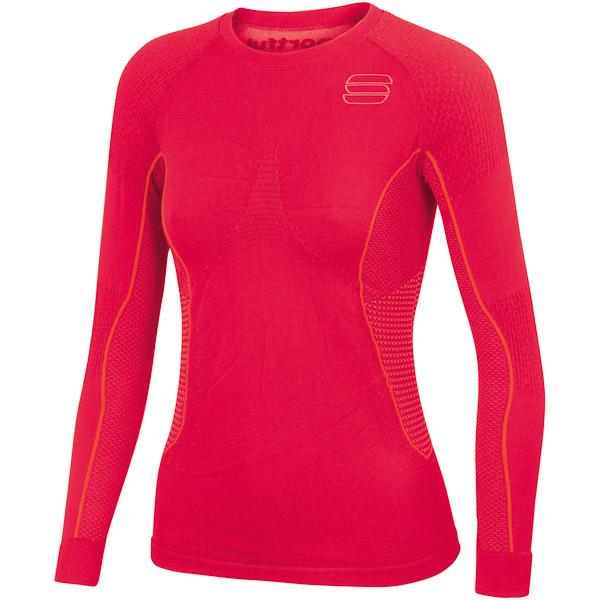 Sportful 2nd Skin Tričko dlhý rukáv dámske červené