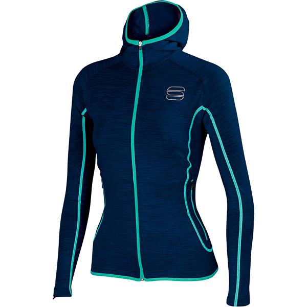 Sportful Terra bunda so zipsom dámska modrá