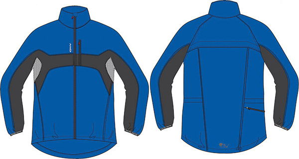 OneWay LARI Mikrovláknová bunda modrá/sivá