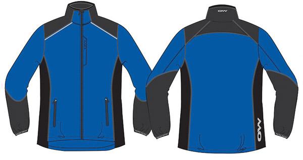 OneWay EROS Mikrovláknová bunda, modrá/sivá