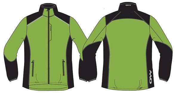 OneWay EROS Mikrovláknová bunda, zelená/čierna