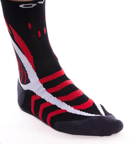 OneWay Ponožky Skinlife, čierne/červené