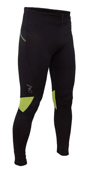 OneWay LEICA Dlhé elasťáky, čierne/zelené prvky