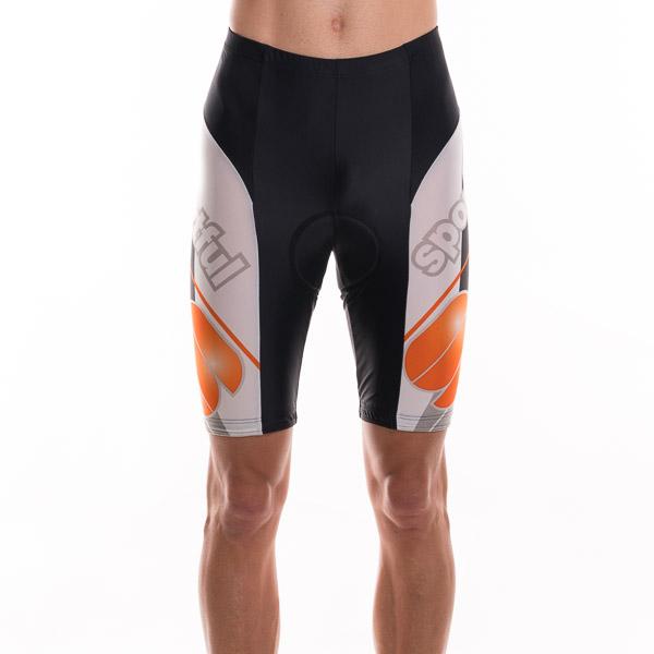 Sportful St. Promo cyklo-kraťasy čierna-biela-oranžová