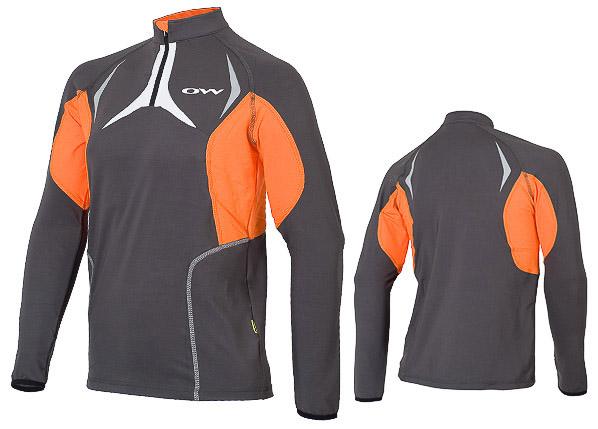 OneWay top VEGA, sivý/oranžové prvky