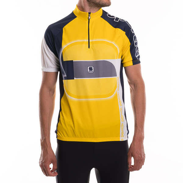 Sportful Maglia St. Slide tričko žltá-tmavo modrá