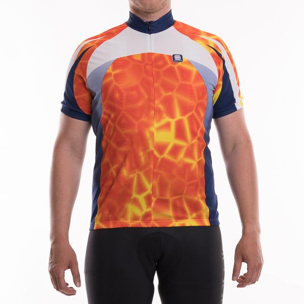 Sportful cyklodres Shell oranžový