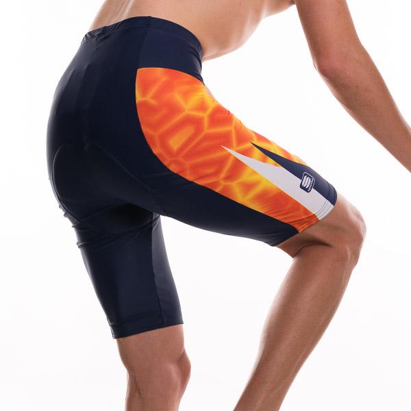 Sportful ST. Shell cyklo-kraťasy oranžová-tmavo modrá