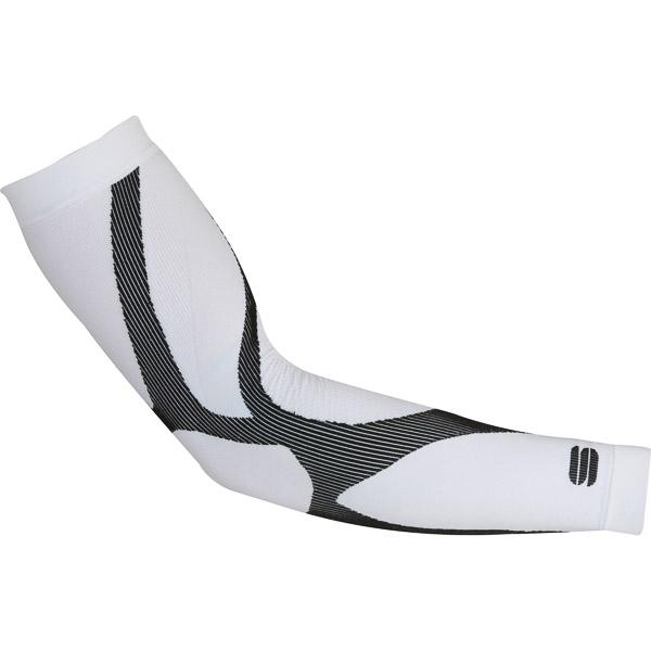 Sportful Second Skin rukávniky biele/čierne