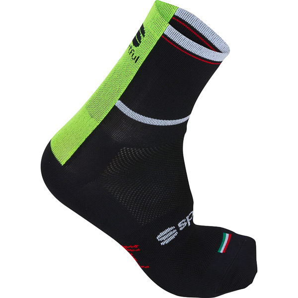 Sportful BodyFitPro Ponožky 9 cm čierne/fluo žlté