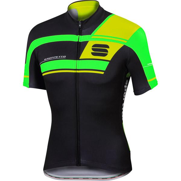 Sportful Gruppetto Pro Team dres čierny/fluo zelený