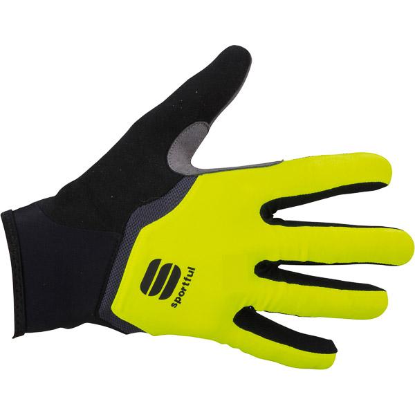 Sportful Gel dlhoprsté rukavice fluo žlté/antracit