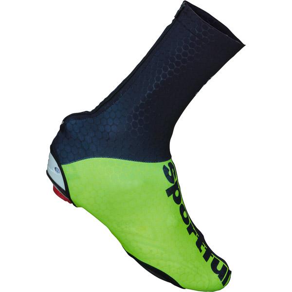 Sportful Lycra návleky na tretry čierne/fluo zelené