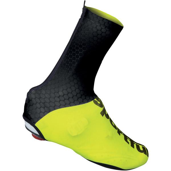 Sportful Lycra návleky na tretry čierne/fluo žlté