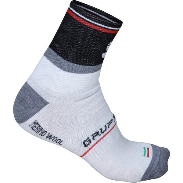 Sportful Gruppetto Wool 12 ponožky biele/sivé/čierne