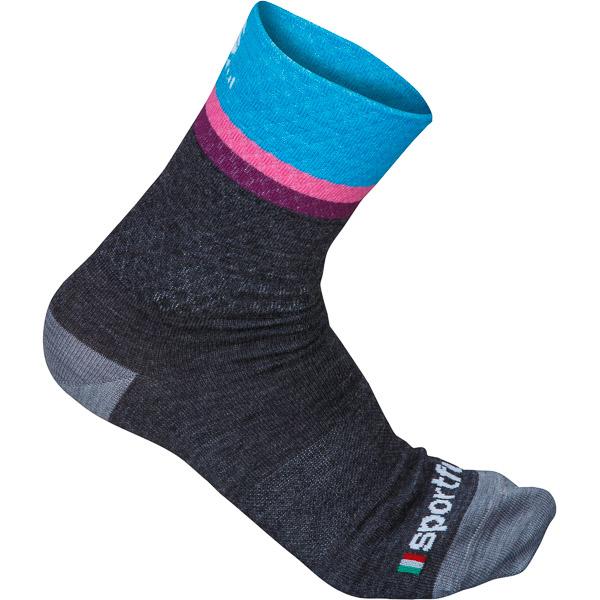 Sportful Wool 14 ponožky dámske sivé/tyrkysové