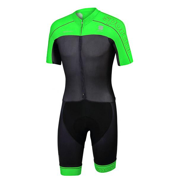 Sportful Bodyfit Pro Road kombinéza čierna/fluo zelená