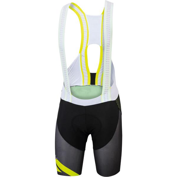 Sportful R&D Cima kraťasy s trakmi čierne/žlté fluo