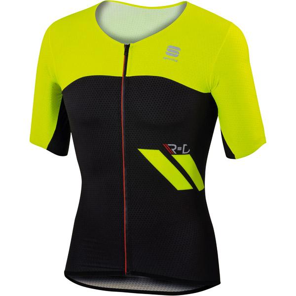 Sportful R&D Cima dres čierny/žltý fluo