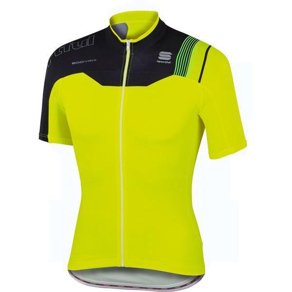 Sportful BodyFit Pro Team dres čierny/fluo žltý