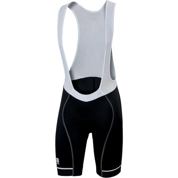 Sportful Giro cyklo kraťasy s trakmi čierne/biele