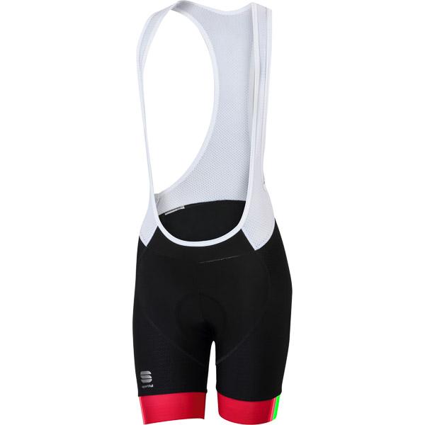 Sportful BodyFit Pro dámske kraťasy s trakmi čierne/koralové