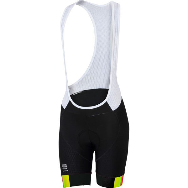 Sportful BodyFit Pro dámske kraťasy s trakmi čierne/žlté