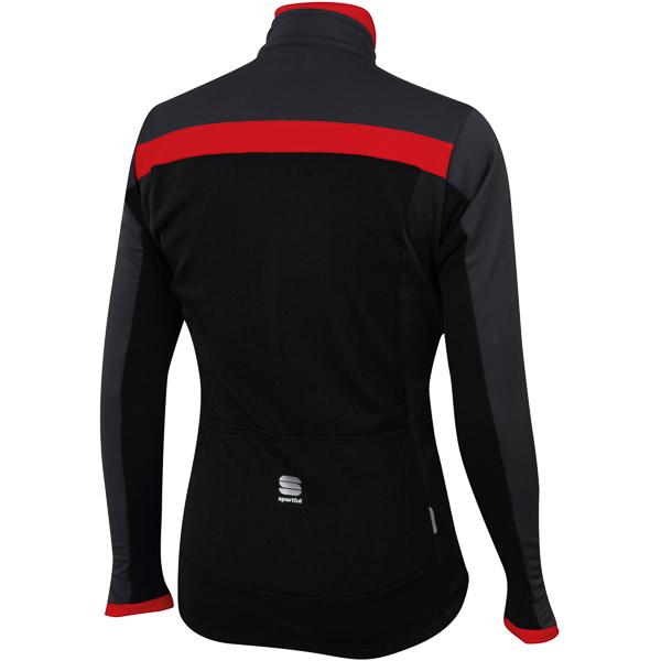 Sportful Giro Softshell bunda čierna/antracit/červená