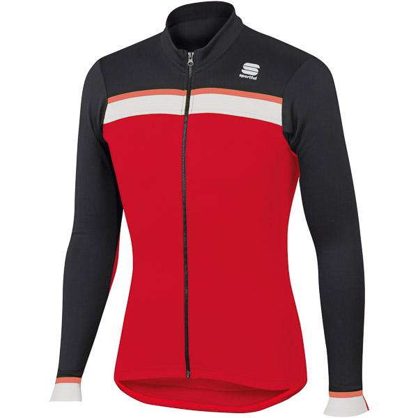 Sportful Pista Thermal dres červený/čierny